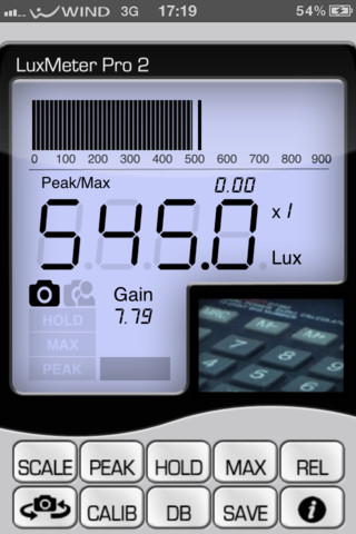 application luxmetre