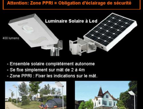 Lampadaire solaire Réverbere solaire à led