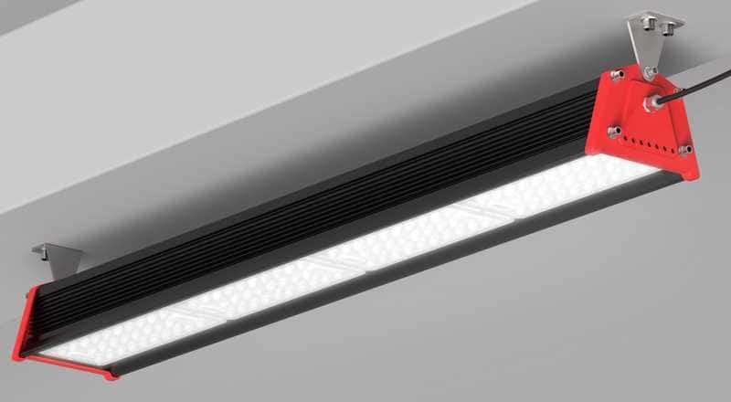 Éclairage LED grande hauteur spécial entrepôt logistique