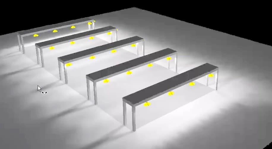clairage led de portique de manutention sncf eclairage industriel led usine chantier atex. Black Bedroom Furniture Sets. Home Design Ideas