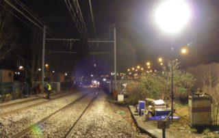 projecteur led mobile maintenance ferroviaire