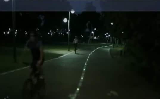 balisage des pistes cyclables par plot routier à led encastré