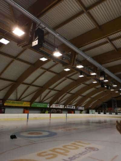 éclairage led patinoire